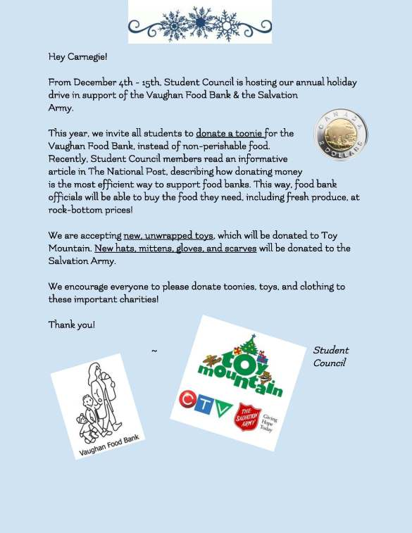 Food Clothing and Toy Drive