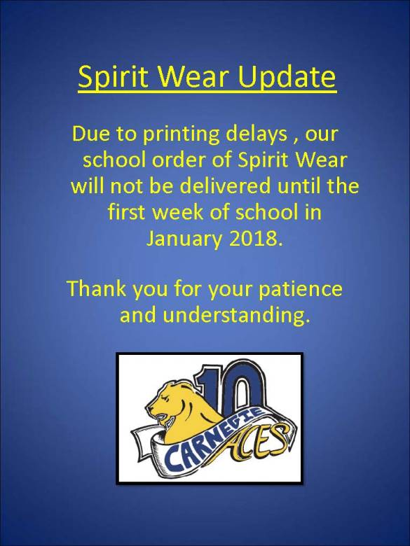 Spirit Wear Update 2017