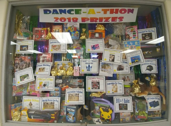 dance-a-thon display case 2018