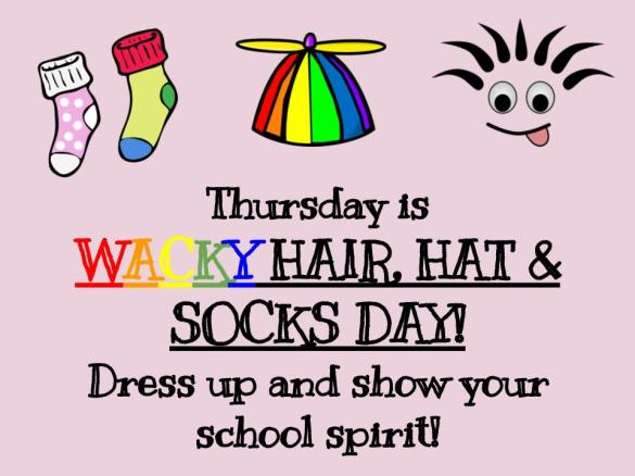 Blog_ Wacky hair, hat, and socks day