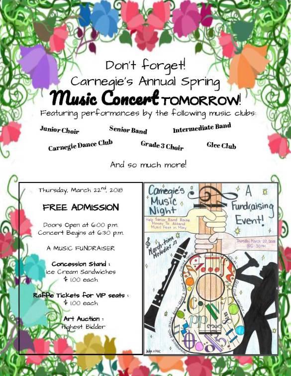 Spring Concert Tomorrow