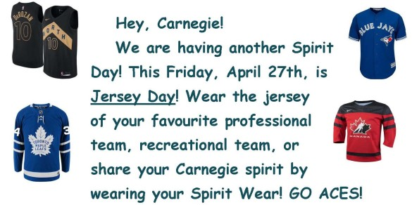 Jersey Day Blog Post April 2018
