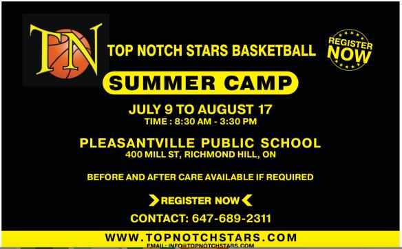 Top Notch Stars Basketball Summer Camp