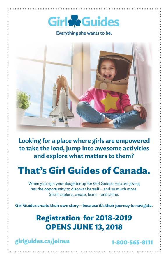 2018 Girl Guides Recruitment Flyer